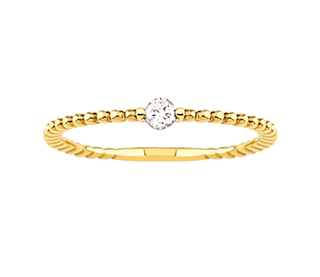 Yellow Gold Plated Diamond Ring Bubble Form