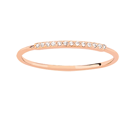 Rose Gold Classic Diamond Ring