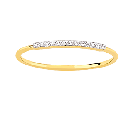 Yellow Gold Classic Form Plated Diamond Ring