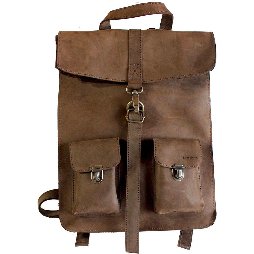 Kjore Project Leather Survey Backpack - GL Shops