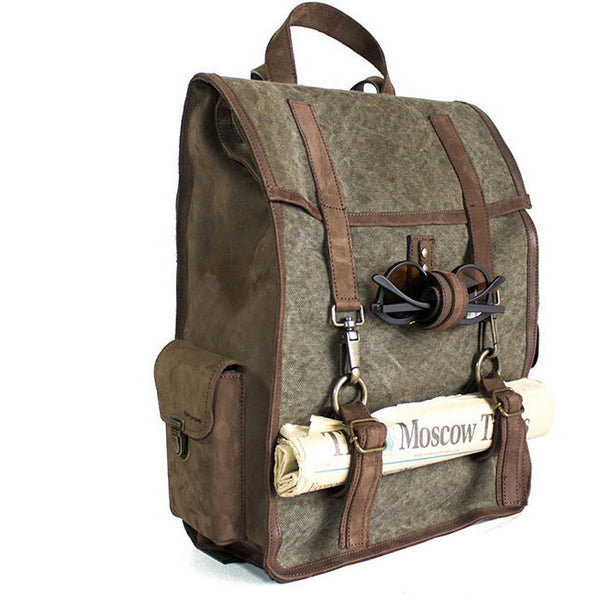 Kjore Project Leather/Canvas Survey Evo Backpack - GL Shops