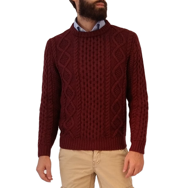 RAKKI Wear Men's King of Cool Merino Extrafine Crewneck Sweater in Amaranth Rose - GL Shops