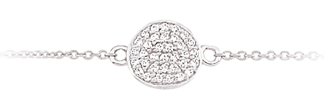 White Gold Plated Bracelet With Diamonds