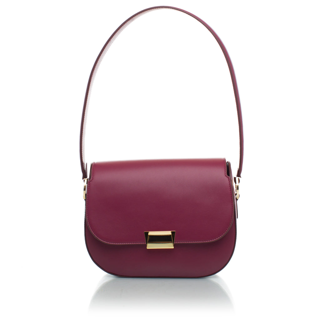 Angela Classic Shoulder Bag in Cherry