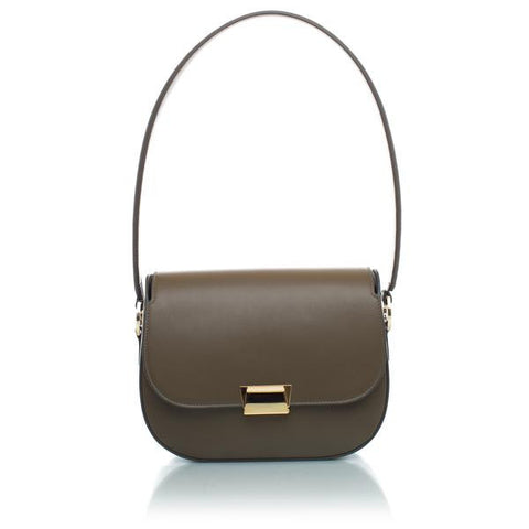 Angela Classic Shoulder Bag in Truffle