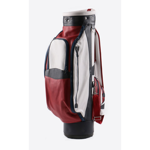 Terrida-Atleta Red Leather Golf Bag - GL Shops