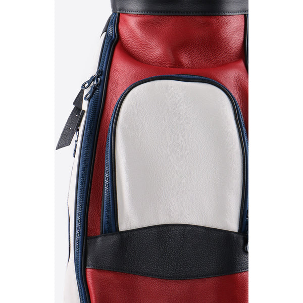 Red Leather Golf Bag