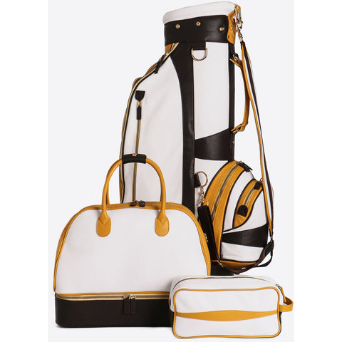 Terrida-Atleta Yellow Golf Set - Golf Bag - Portascarpe Duffel -Pouch - GL Shops