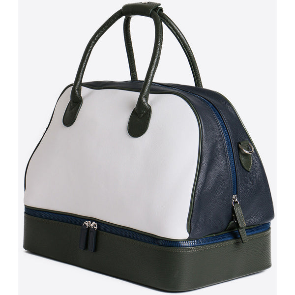 Terrida-Atleta Portascarpe Green Leather Duffel - GL Shops