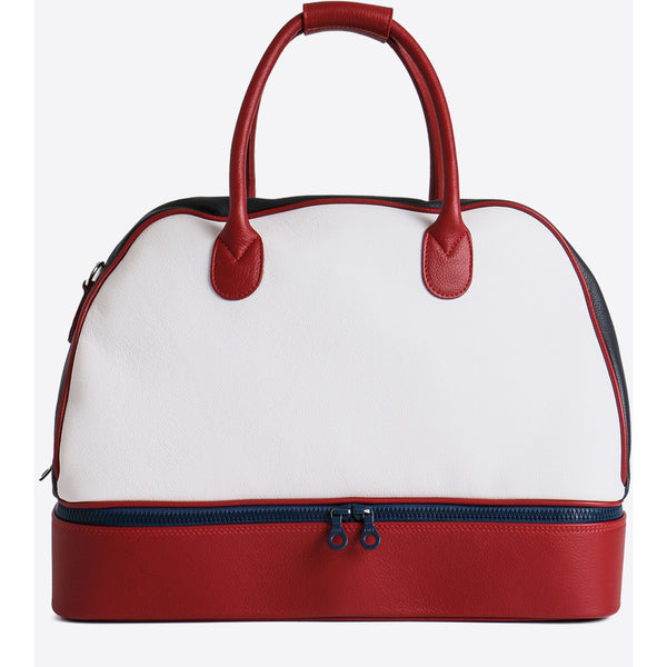 Terrida-Atleta Portascarpe Red Leather Duffel - GL Shops