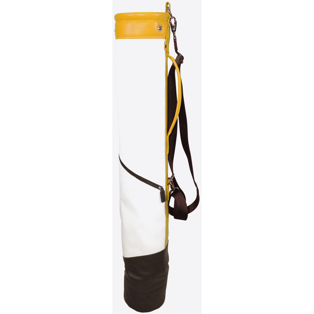 Terrida-Atleta Soft Gold Leather Golf Bag - GL Shops