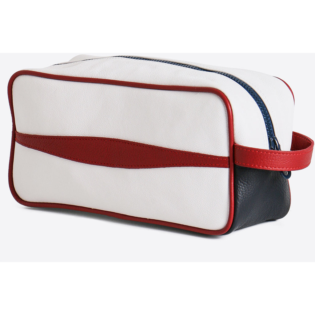 Terrida-Atleta Red Leather Toiletry Bag - GL Shops