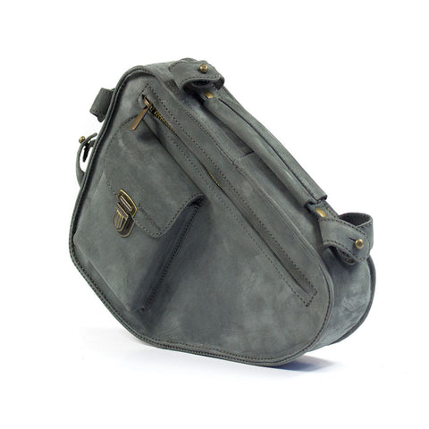 Kjore Project Grey Leather Bicycle Frame Bag - GL Shops