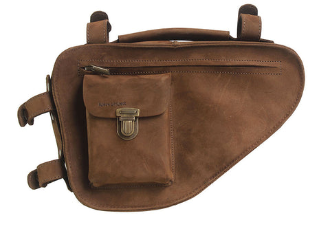 Bicycle Frame Bag in Brown