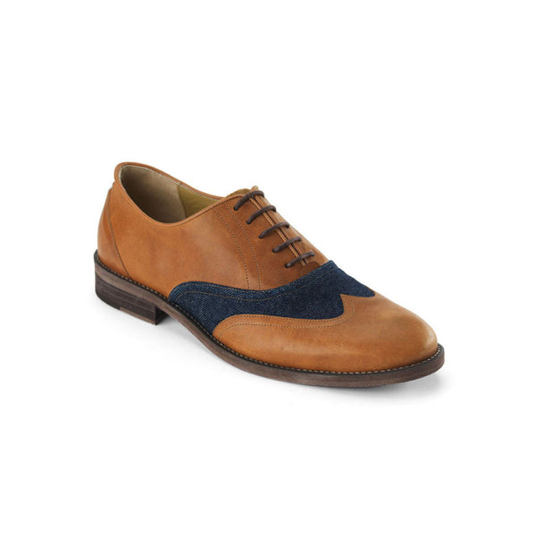 Dandy Camel & Denim Oxford