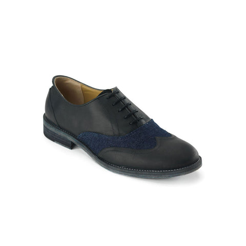 Dandy Black & Denim Oxford