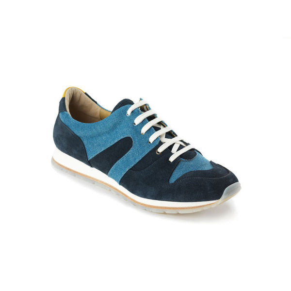 Moving Blue Denim & Suede Sneakers