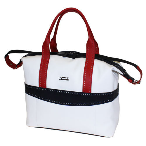 Terrida-Atleta Large Red Leather Duffel - GL Shops