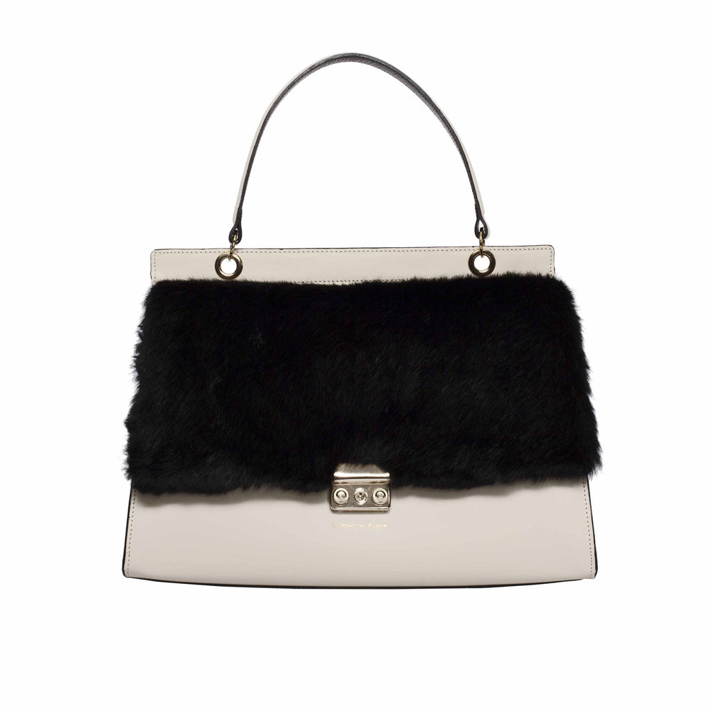 Clemence Flane Clemence Flane Rogelia Handbag in Ivory Mix - GL Shops