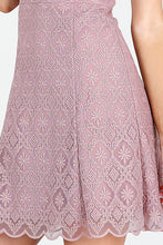 Mauve Tile-Lace Embroidered Dress