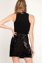 Black Sequin Shecker Mini Skirt