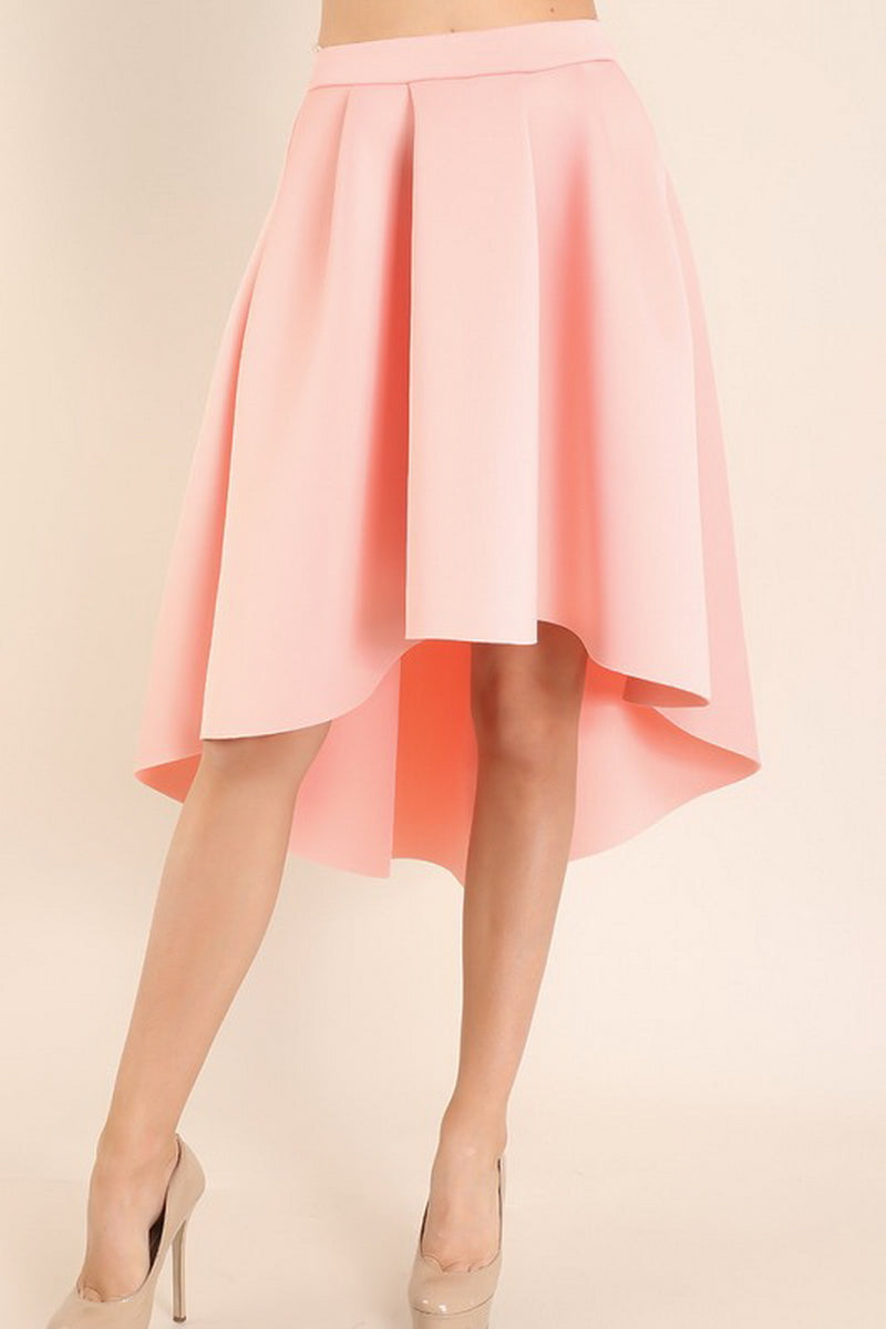 Blush Hi Low Solid Circle Skirt
