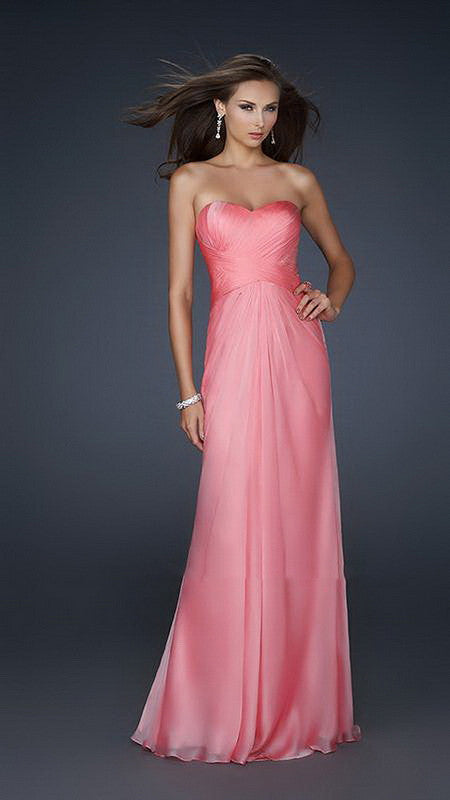 Rose Pink Pleated Minor Beaded Gorgeous Open Back Long Dress