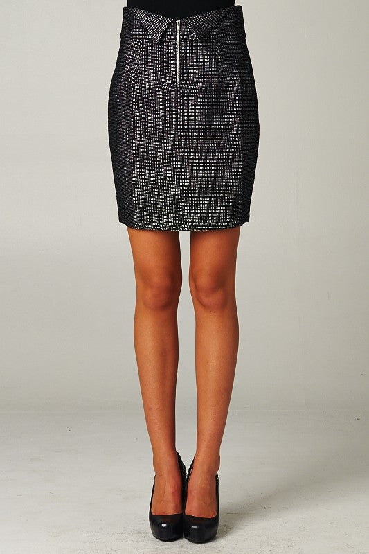 Woven Knit Pencil Skirt