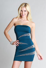 Glitter Accents Tube Fitting Jersey Dress