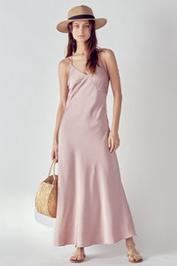 Mauve Slip Maxi Dress