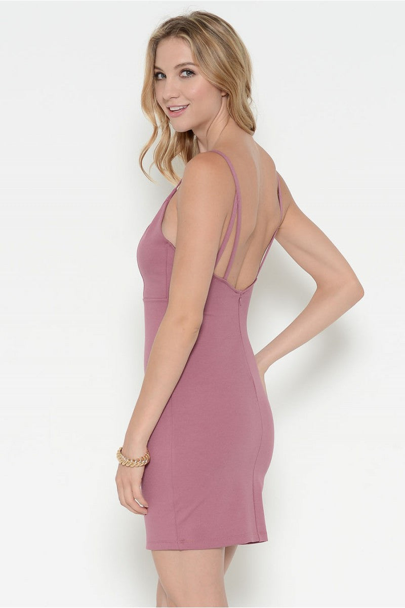 Ponti Verona Deep Neck Strappy Sexy Dress