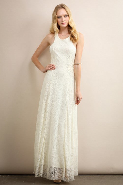 Traditional Top Full Lace Long Dress