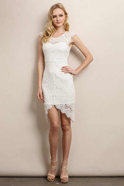 Elegant Ivory Full Lace Dress