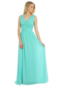 Mint Round Neckline Maxi Dress