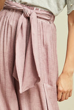 Mauve Stone Washed High Elastic Waist Pants