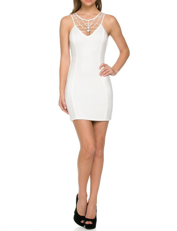 Spider Net rim Bodycon Dress