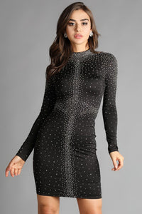 Black Galaxy Hot Fix Dress