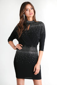Hot Fix Blouson Dress