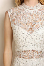 Ivory Classic Sequin Lace Cocktail Dress