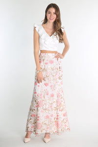Two Piece Floral Embroidered Dress