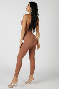 Brown Catwoman Jumpsuit