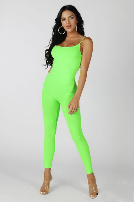Neon Green Catwoman Jumpsuit