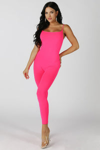 Neon Pink Catwoman Jumpsuit