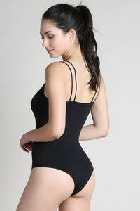 Black Double Strap Bodysuit