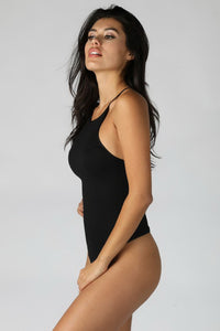 Black High Neck Bodysuit