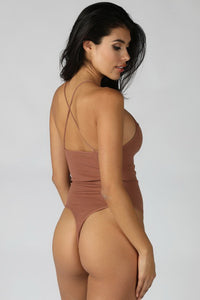 Brown High Neck Bodysuit