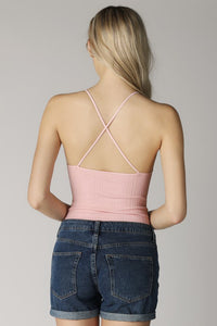 Soft Pink High Neck Bodysuit