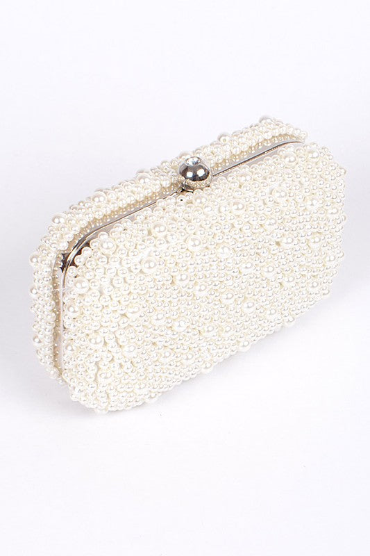 Pearl Bead Clutch Bag