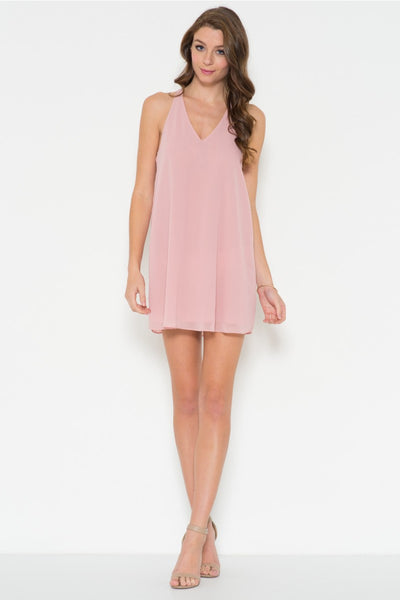 Chiffon Back Shift Dress