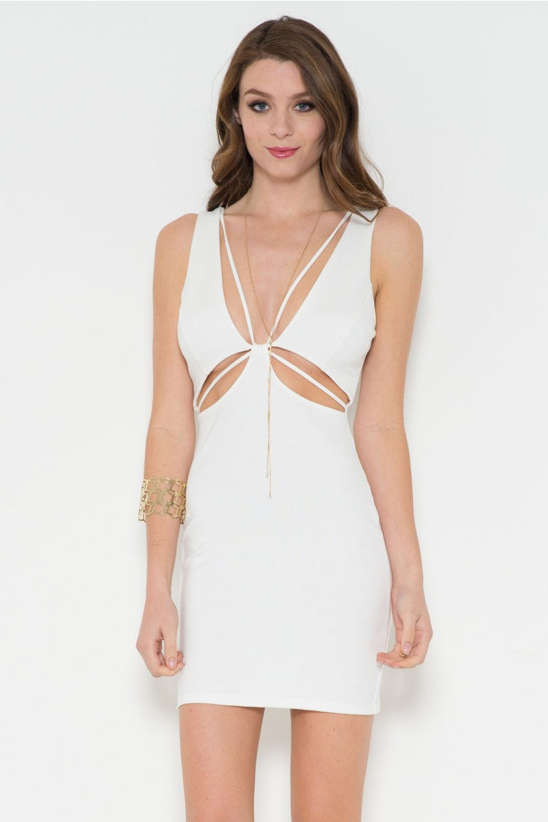 Cutout Midi Body-Con Dress